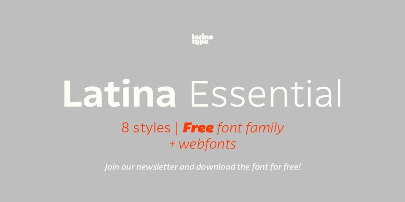 Download Latina Essential font (typeface)