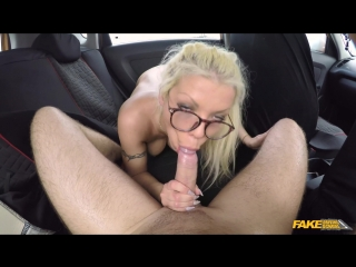 FakeDrivingSchool Barbie Sins Hot sweaty sex with big tits blonde  New Porn 2017
