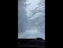 Крым. Дорога на Ай-Петри. Почти доехали до плато. Снег в некоторых местах доходит до пояса😛 красота💙