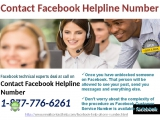 Contact Facebook Helpline@1-877-776-6261 to Flush away your Facebook Problem