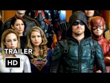 DCTV Crisis on Earth-X Crossover Full Trailer - The Flash, Arrow, Supergirl, DCs Legends (HD)