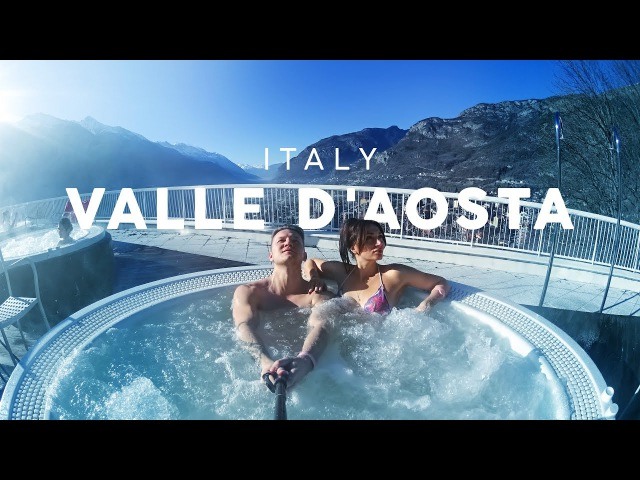 Valle D'Aosta Italy aerial journey