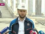На строительстве стадиона в Нижнем Новгороде приступили к благоустройству территории.
