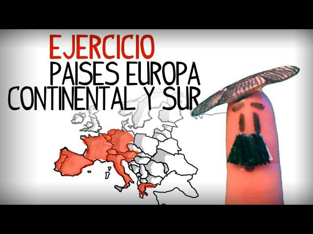Ejercicio practicar paises de Europa continental