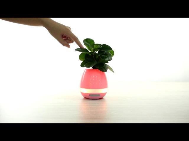 Smart 4 in 1 Rechargable Bluetooth Music Flowerpot Speaker