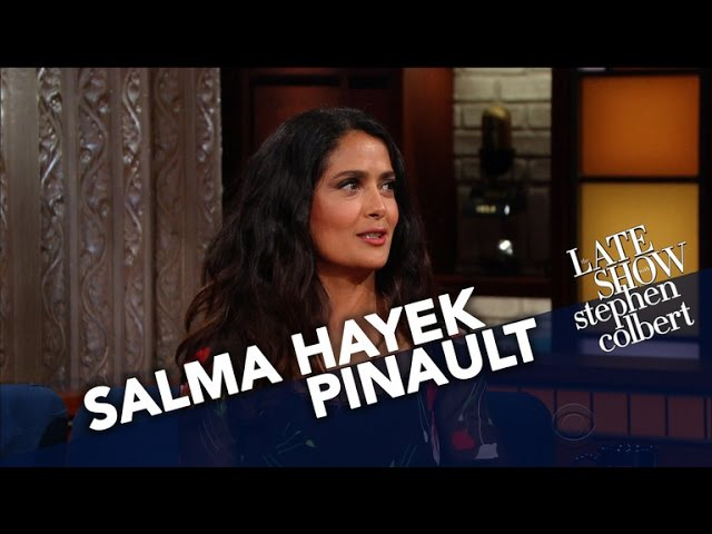 Сальма Хайек The Late Show with Stephen Colbert 2017