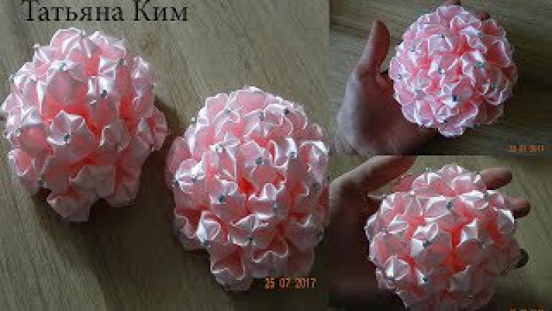 Пышный бант Пышный цветок канзаши Lush Bow Lush Kanzashi Flower