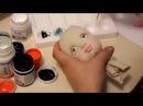 Мастер класс Текстильно скульптурная кукла Урок 2 Раскраска лица