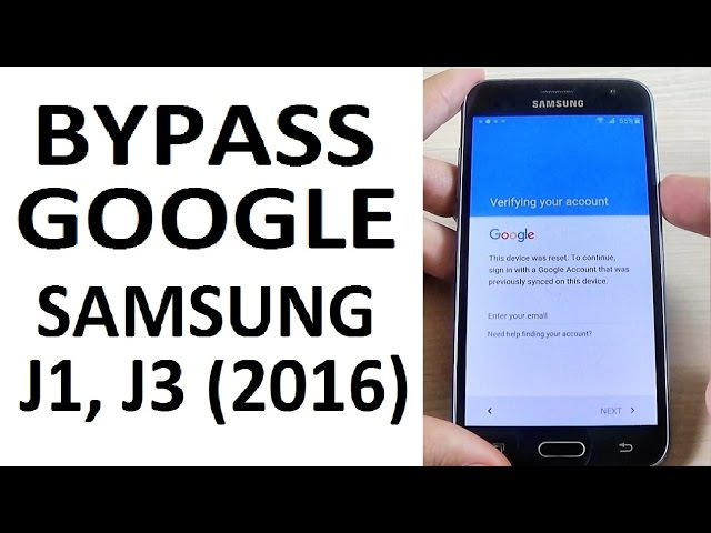 BYPASS GOOGLE Account Samsung Galaxy J1, J3 (2016) | Remove Factory Reset Protection FRP