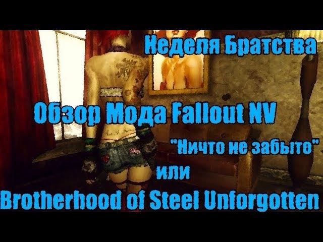 Неделя Братства. Обзор Мода Fallout NV: Brotherhood of Steel Unforgotten.