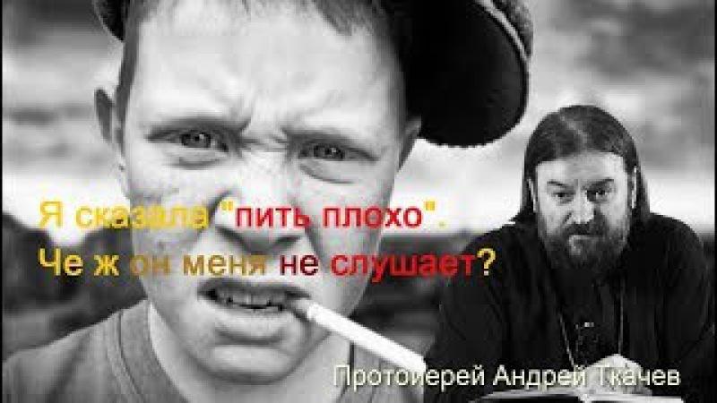 Я сказала что пить не хорошо, че ж он не слушает? Протоиерей Андрей Ткачев