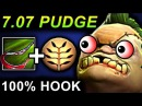 MONSTER PUDGE 100 HOOK - DOTA 2 PATCH 7.07 NEW META PRO GAMEPLAY