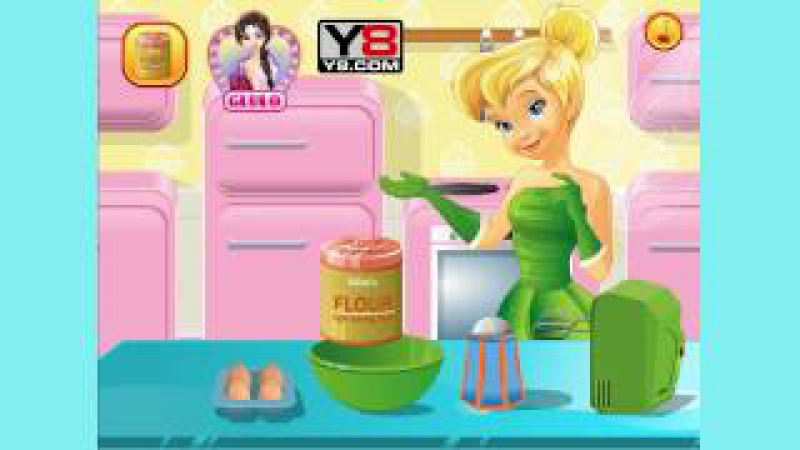 Frozen Anna cooking Pricess cake   Frozen Elsa cooking Frozen cake and Frozen Olaf 💕Tinkerbell