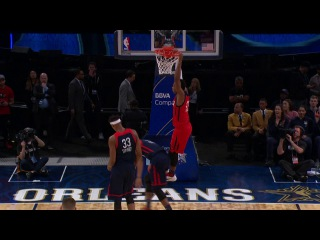 Buddy Hield Connects on The Long Alley Oop Dunk USA vs. World   02.17.17