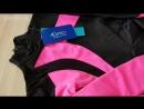 Термоплатье Кэрриган для фигурного катания черное с ярко розовым