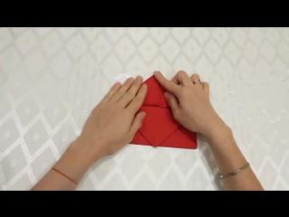 Как красиво сложить бумажные салфетки- Салфетка Сумочка