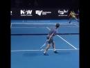 Эффектный удар в большом теннисе