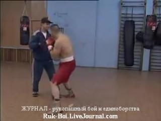 БОКС, обучение технике ударов руками, методика постановки удара Ч3 связки по лапам