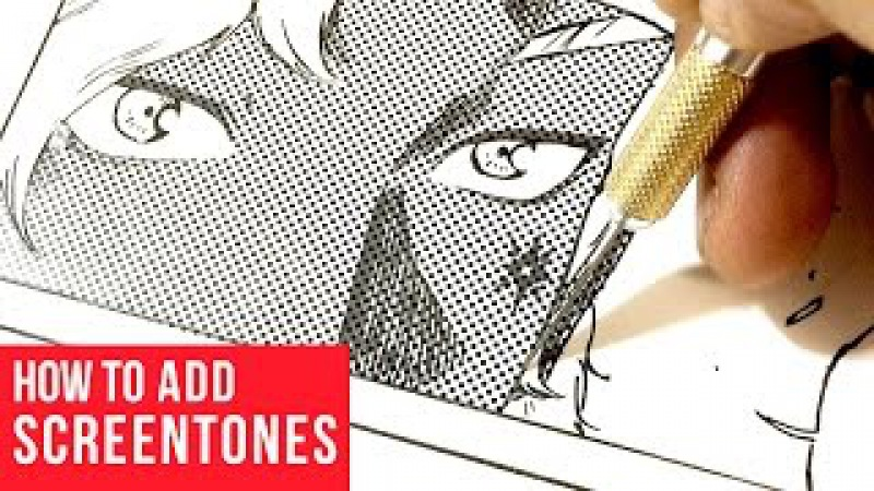 How To Add Manga Screentones Traditionally