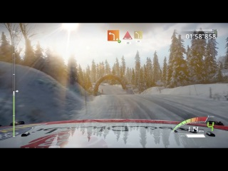 WRC 7 gameplay: Lefebvre @ Rally Sweden