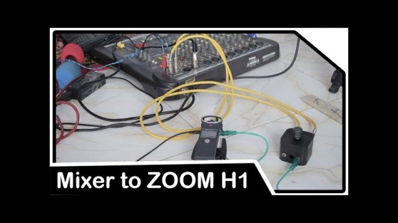Cara merekam audio dari Mixer ke Zoom H1 menggunakan DIY Line Attennuation