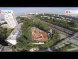 Вид с воздуха на углу улиц Восточная  Шевченко растет небольшой православный  ...