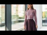 Пати-Пилар - закрытая блуза из кружевного полотна в сочетании с юбкой с глубоким ...