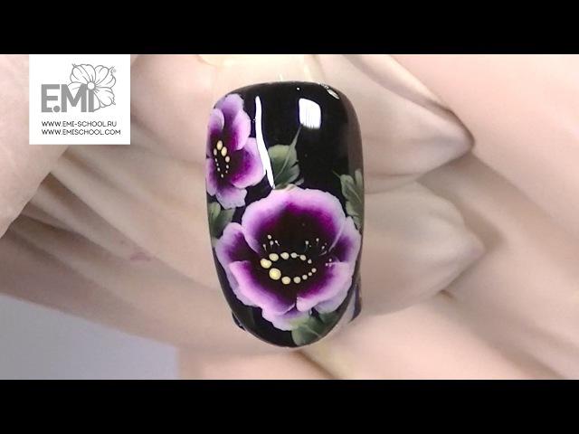 Мастер класс китайская роспись Дизайн ногтей на гель лаке