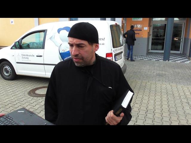Ahmadiyya Muslim Jamaat-Pressekonferenz – misslungener Teilnahme-Versuch,Halle,30.3.17,Sven Liebich