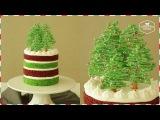 (https://vk.com/lakomkavk) Новогодние елочки из шоколада. How to make Christmas yogurt cream cake.