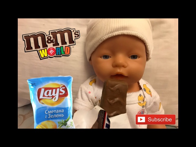 BAD BABY Born Doll Steals Chips and Candy! Johny Johny Yes Papa Nursery Rhymes Songs for children
