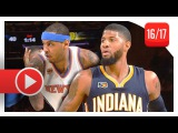 Carmelo Anthony vs Paul George Duel Highlights (2017.03.14) Knicks vs Pacers - SICK!