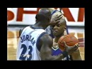 Michael Jordan vs Sam Cassell Funny Trashtalk after Foul What U Doin Sam