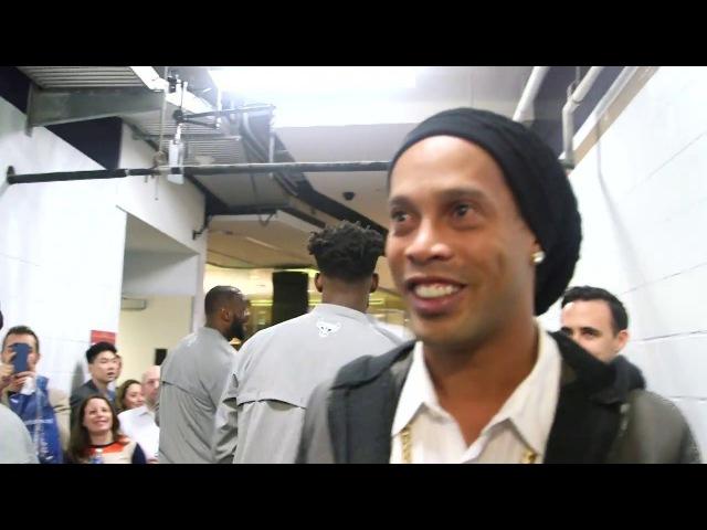 Ronaldinho Takes In NBA All Star Weekend 2017