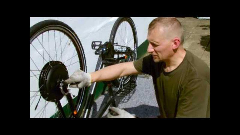Установка Мотора-колеса 1000w с батареей и др. своими руками без проблем.