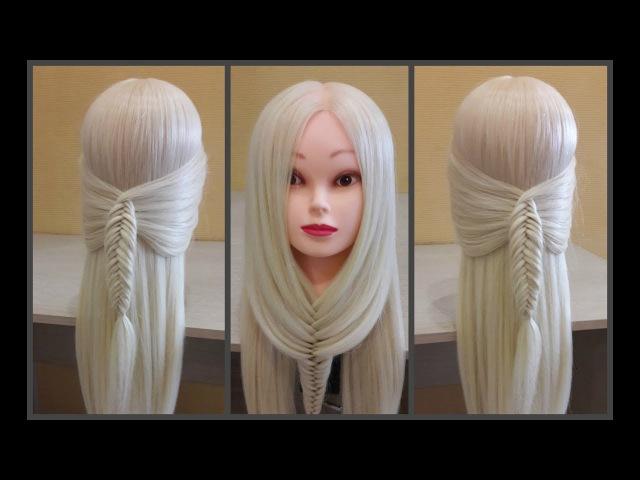 Удобный способ самой себе сделать легкую и красивую прическу❤Easy way to make yourself a hairstyle