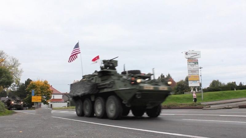 US-Militär-Konvois aus Bayern zur Abschreckung Russlands in Polen angekommen - Krieg hat keine Würde