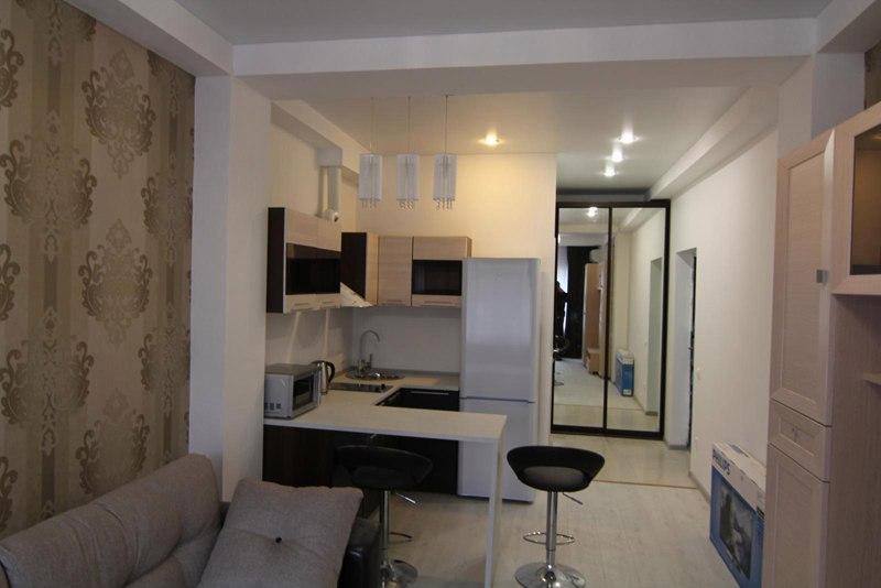Интерьер квартиры-студии 25 м в Сочи.