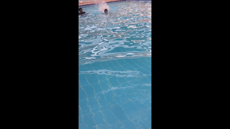 SWIMMING AT HOME WID HOMIES WITH PRINCE AHMAD