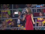 Поэт Ника Симонова на Церемонии Закрытия 19 Всемирного Фестиваля молодежи и студентов