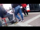 Gizli ekim Durakta Otobs Bekleyen Kot Pantolonlu Kz (Video fa)