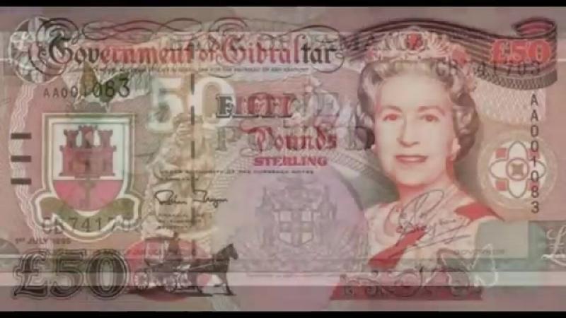 Английская Королева Елизавета II. Фотоальбом из денежных купюр.