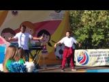Аделина Сотникова на фестивале детского футбола