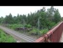 Железная дорога пробита через скалы острова Твердыш