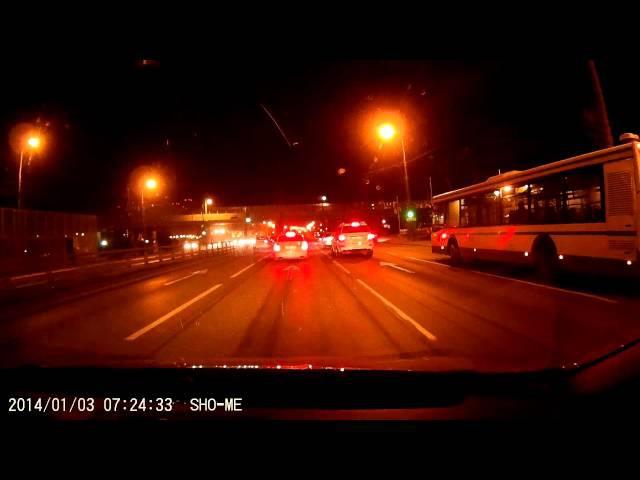 Видеорегистратор SHO-ME NTK-50FHD: ночная съёмка авторегистратора