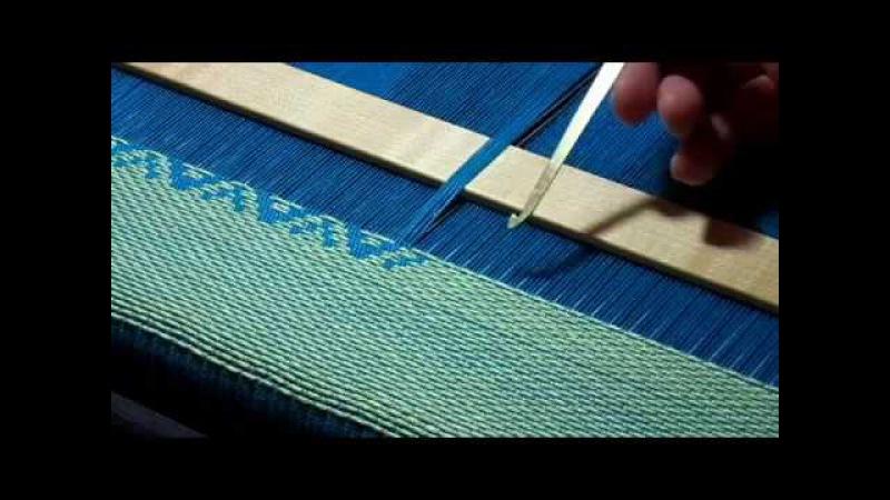 Supplementary Warp Weft weaving loom