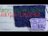 Схема вязания спицами, ажур и шишечки