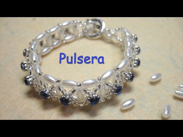 DIY - Pulsera de topacios y perlas de arroz DIY - Bracelet of topaz and rice pearls