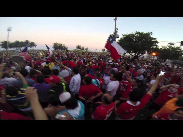 Banderazo Chile - Copacabana, Brasil 2014