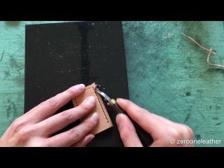 [edgefinishing/コバ磨き編]logical leather craft for beginners ロジカルレザークラフトビギナーズ